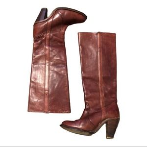 Frye Heeled Tall Boots Size 6